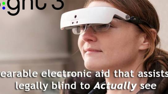 Electronic eyewear that enables the legally blind to see